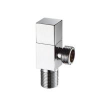 1/2 inch chrome plated brass angle water stop valve brass shut off valve