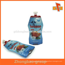 2015 hot Custom printed stand up liquid food packaging wholesale