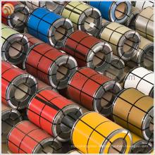 Alta Resistencia Térmica Bobina de acero pintado de acero corrugado Prepintado para cartón corrugado