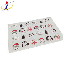 Customized !Hot selling cheap custom transparent christmas sticker paper