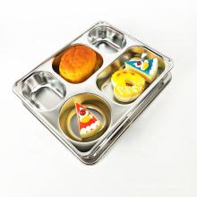 Placas seccionales rectangulares de 1 pulgada de acero inoxidable para catering.
