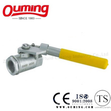2PC Stainless Steel Threaded Ball Valve with Spring Handle