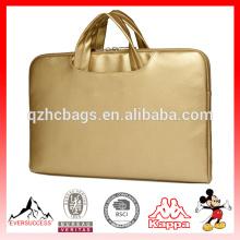 Canvaslife золото PU кожаный ноутбук Briefcas для ноутбука ноутбук рукав сумка