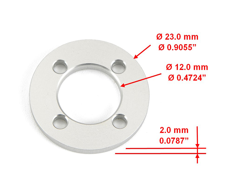 Round Plate Part Size