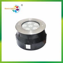 Luz subterrânea do diodo emissor de luz do aço inoxidável quente da venda 6W, luz subaquática