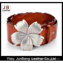 Luxury Exotic Butterfly Shape Leather Belt