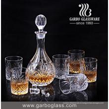 Set de beber vidrio de diseño elegante de 7PCS