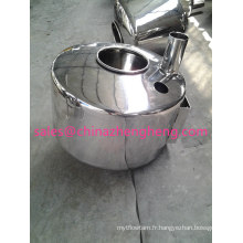 Réservoir de lait écrémé en laiton inoxydable