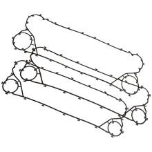 APV A055 нержавеющая сталь пластинчатый теплообменник прокладки