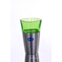 Copo de vácuo de cerveja de aço inoxidável de alta qualidade SVC-400pj verde
