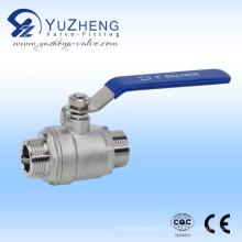 Válvula de esfera de aço inoxidável 2PC Thread M / M