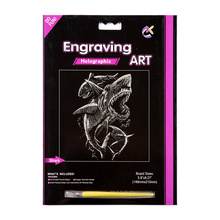 Fancy Nevelty Creative Engraving Art Scratch Cards Toys
