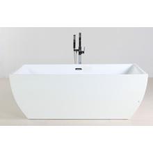 Белая акриловая автономная горячая ванна
