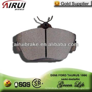 D598 FORD TAURUS halbmetallischer Bremsbelag mit freier Probe
