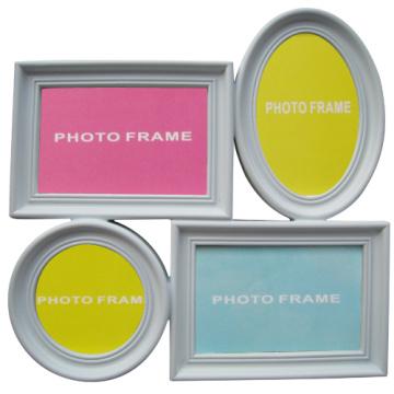 Populares blanco 4 apertura Collage plástico marco