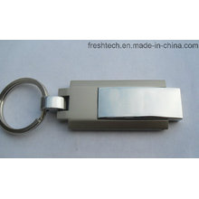 Hot vendendo metal chaveiro giratória USB Flash Drive (D309)