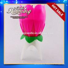 Vela de la flor de la música para el uso de la torta vela caliente de la flor del cumpleaños de la venta