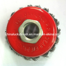 "3"" 5/8""-11 Thread Steel Wire Knot Cup Brush (YY-383)"