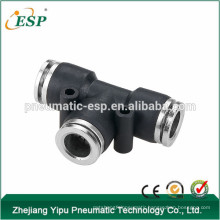 esp black pem union tee pneumatic fitting
