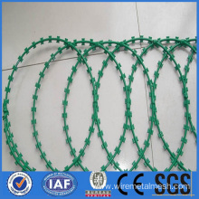 Barbed wire with PVC surface
