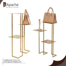 Low MOQ for Shopping Mall Display Shelf Bag Shoes Display Stand For Clothing Shop supply to Saint Lucia Exporter