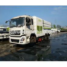 Camión de la limpieza del camino de 190Hp 4X2 Dongfeng / barrendero de camino / barrendero del diesel / carro del barrendero del vacío