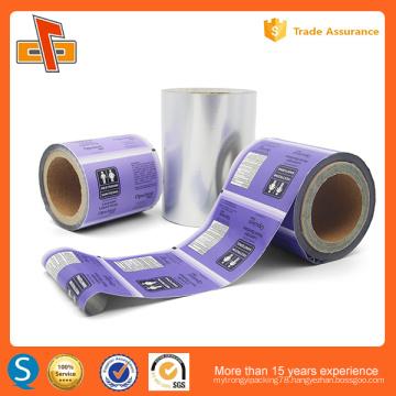 OEM decorative plastic heat shrink sleeve label wrapping for bottle