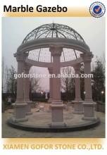 Outdoor white marble gazebo