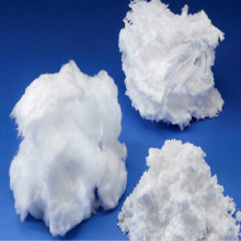Formaldehyde-free loose white fibre glass wool
