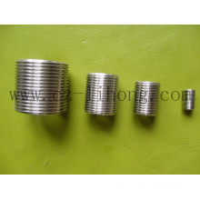 "1/4"" Stainless Steel 316 DIN2999 Close Nipple"