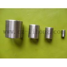 """4 """"aço inoxidável 316 DIN2999 Fechar mamilo de tubo"""