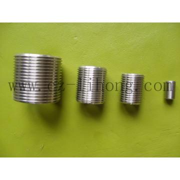 """Aço inoxidável 1/8 """"DIN 2999 Fechar mamilo de tubo"""