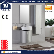 Cabinet de rangement de salle de bain en laiton brillant