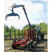 Remorque en bois ZM5004 avec grue