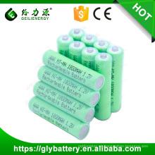 Alta calidad 1.2v 3 aaa NIMH 1800mah batería recargable