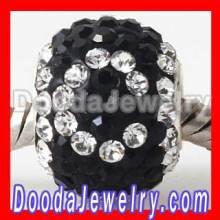 2012 New Design Pave Swarovski Crystal Beads Alphabet Charms For Bracelets