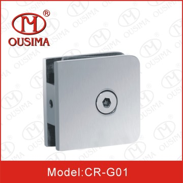 0 Degree Die Casting Square Shower Room Glass Clamp (CR-G01)