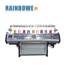 máquina de confecção de malhas lisa automática da camisola automatizada nova do sistema dobro da circunstância