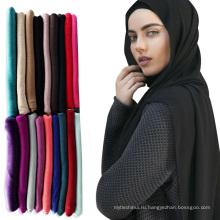 2017 лучшее-продажа мода легкий обычный мусульманский платок Арабские хиджаб шарф шаль Джерси хиджабах