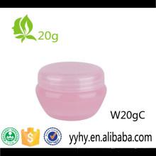 Tarro plástico de la crema del cuidado de piel 20g de la venta caliente