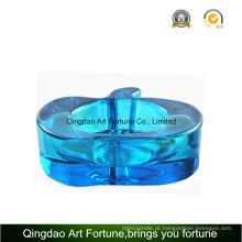 Azul cor candle titular da maçã para decoração diária