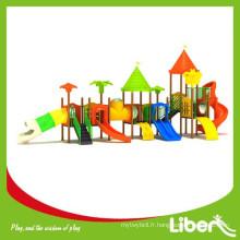 Diapositives en plastique extérieures Grandes aire de jeux pour les enfants pour les enfants Parc d'attractions
