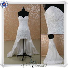 JJ3501 Real Sample J3501 Mais recente Real Sample Short Front Long Back Lace Wedding Dress