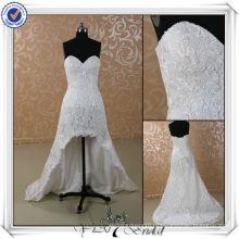 JJ3501 реальный образец J3501 Новый реальный образец короткий передний долго назад кружева свадебное платье
