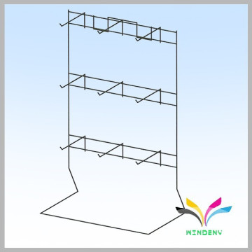 Free standing wire retail counter sturdy display rack for cosmetics