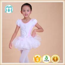 Enfants Dancewear en coton peigné et en mousseline de soie, robe de danse Tutu en mousseline de soie robe de tutu fille de 3 ans