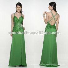 Charmante A-line Kreuzriemen grünes Abendkleid