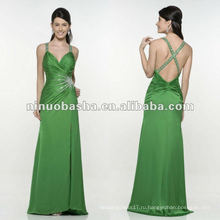 Очаровательный a-линия крест лямки-зеленый вечернее платье