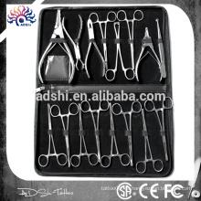 Professional Top Kit de herramientas de perforación corporal de alta calidad