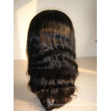 En gros indien remy cheveux pleine dentelle perruque en stock